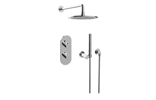 GRAFF GL2.022WD-RH0 M.E.25 THERMOSTATIC SHOWER SYSTEM - SHOWER WITH HANDSHOWER
