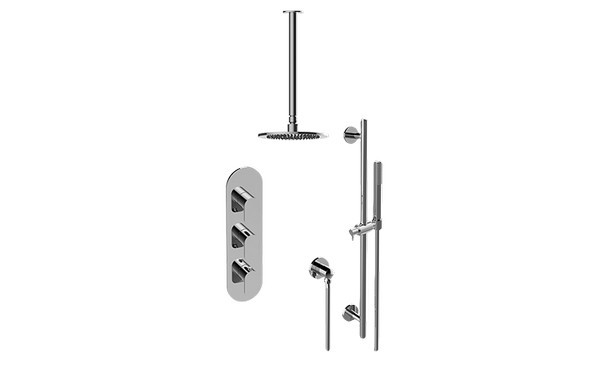 GRAFF GL3.011WB-LM42E0 SENTO THERMOSTATIC SHOWER SYSTEM - SHOWER WITH HANDSHOWER