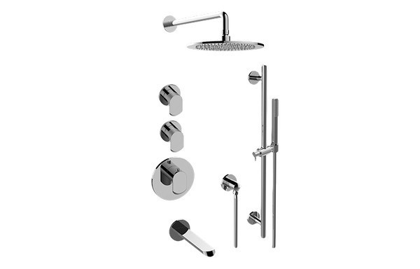 GRAFF GL3.G12ST-LM45E0 PHASE THERMOSTATIC SHOWER SYSTEM - TUB AND SHOWER WITH HANDSHOWER