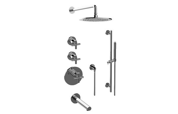 GRAFF GL3.J12ST-C17E0 M.E.25 THERMOSTATIC SHOWER SYSTEM - TUB AND SHOWER WITH HANDSHOWER
