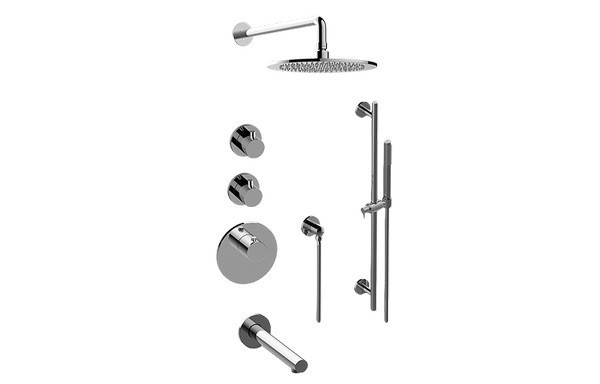 GRAFF GL3.J12ST-RH0 M.E.25 THERMOSTATIC SHOWER SYSTEM - TUB AND SHOWER WITH HANDSHOWER