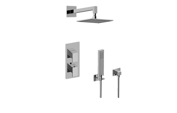 GRAFF GM2.022WD-LM31E0 SOLAR THERMOSTATIC SHOWER SYSTEM - SHOWER WITH HANDSHOWER