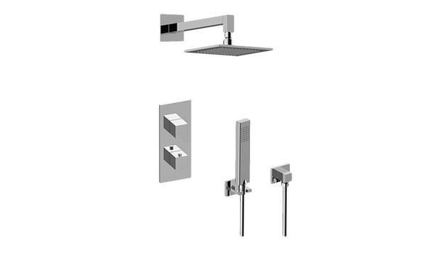 GRAFF GM2.022WD-SH0 INCANTO THERMOSTATIC SHOWER SYSTEM - SHOWER WITH HANDSHOWER