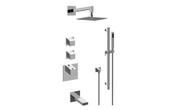 GRAFF GM3.612ST-SH0 INCANTO THERMOSTATIC SHOWER SYSTEM - TUB AND SHOWER WITH HANDSHOWER