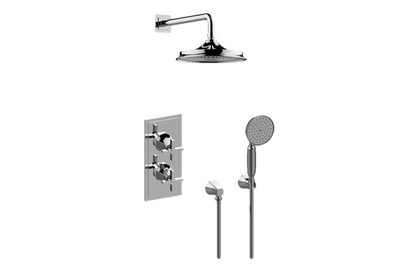 GRAFF GR2.022WD-C15E0 FINEZZA DUE THERMOSTATIC SHOWER SYSTEM - SHOWER WITH HANDSHOWER