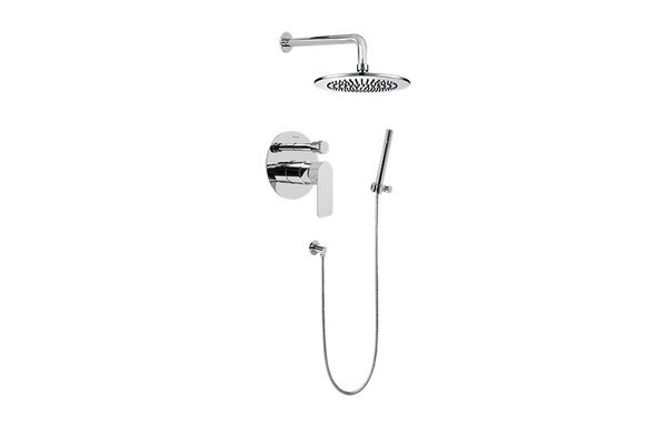 GRAFF G-7278-LM42S SENTO PRESSURE BALANCING SHOWER SYSTEM - SHOWER WITH HANDSHOWER