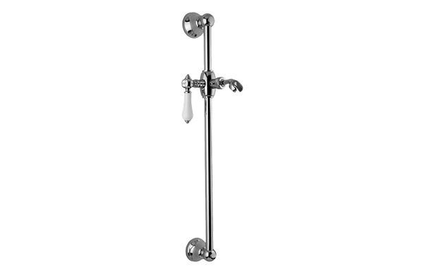 GRAFF G-8601-LC1S CANTERBURY 22 INCH TRADITIONAL WALL-MOUNTED SLIDE BAR