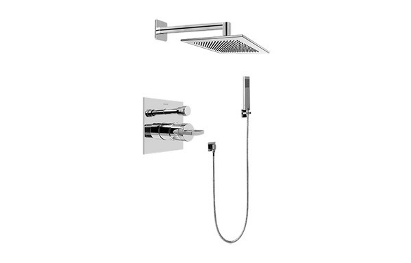 GRAFF G-7295-C14S SADE PRESSURE BALANCING SHOWER SYSTEM - SHOWER WITH HANDSHOWER