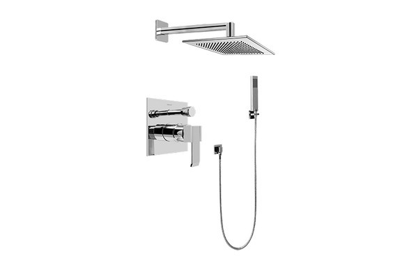 GRAFF G-7295-LM38S QUBIC PRESSURE BALANCING SHOWER SYSTEM - SHOWER WITH HANDSHOWER