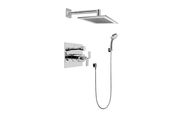 GRAFF G-7296-C9S IMMERSION CONTEMPORARY PRESSURE BALANCING SHOWER SET