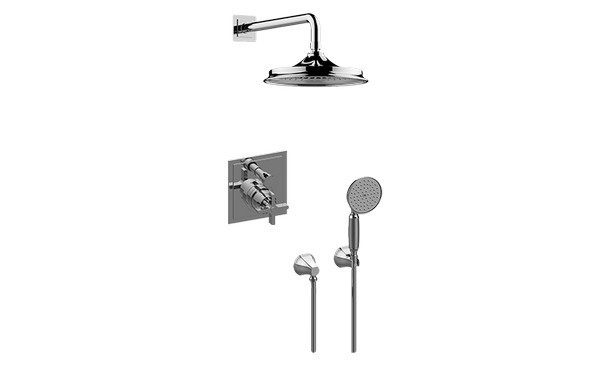 GRAFF G-7285-C15S-T FINEZZA UNO PRESSURE BALANCING SHOWER SYSTEM - SHOWER WITH HANDSHOWER