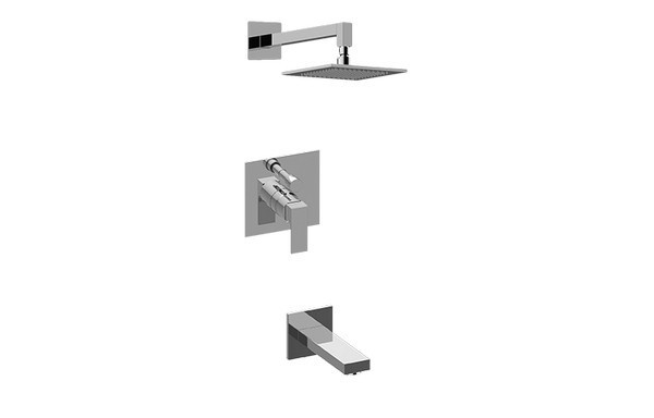 GRAFF G-7290-LM55S-T INCANTO PRESSURE BALANCING SHOWER SYSTEM - TUB AND SHOWER