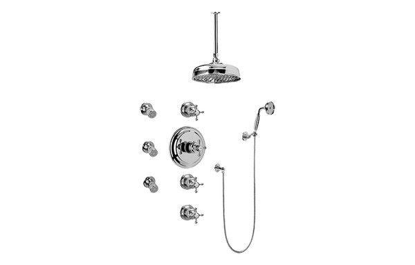 Vintage Bronze Standard Plumbing Supply Jaclo 6407-VB Traditional Hand Shower Wall-Mounted 1//2 Male x 1//2 Female Supply Elbow