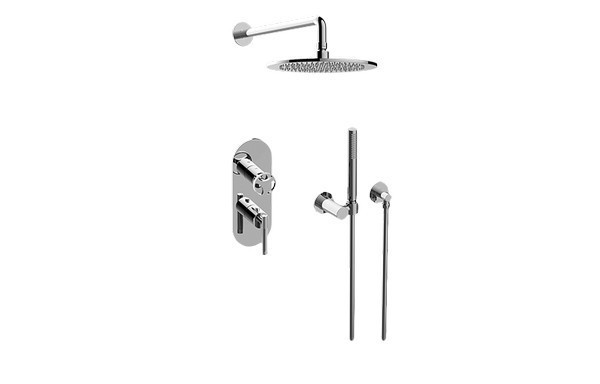 GRAFF GL2.022WD-LM57C19-T HARLEY THERMOSTATIC SHOWER SYSTEM - SHOWER WITH HANDSHOWER (TRIM)