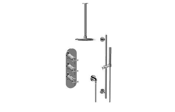 GRAFF GL3.011WB-C17E0-T M.E.25/TERRA THERMOSTATIC SHOWER SYSTEM - SHOWER WITH HANDSHOWER (TRIM)
