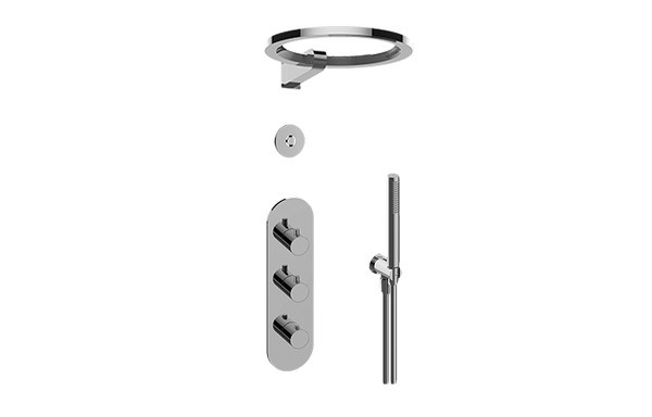 GRAFF GL3.029WT-RH0-T AMETIS THERMOSTATIC SHOWER SYSTEM - RING WITH HANDSHOWER