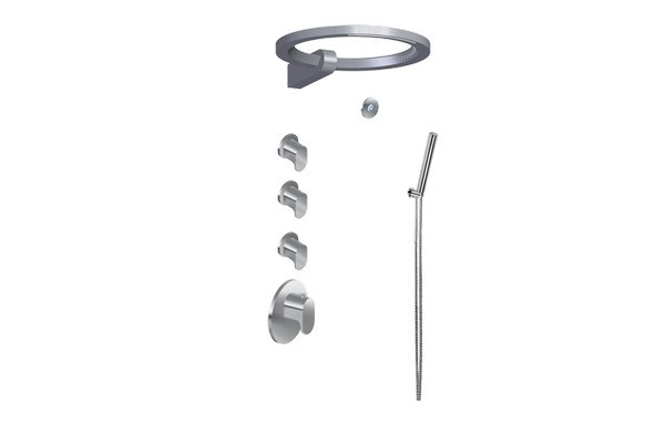 GRAFF GL4.029SC-LM44E0 AMETIS THERMOSTATIC SET WITH RING AND HANDSHOWER