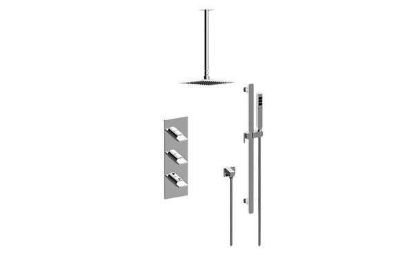 GRAFF GM3.011WB-C14E0 SADE/TARGA THERMOSTATIC SHOWER SYSTEM - SHOWER WITH HANDSHOWER