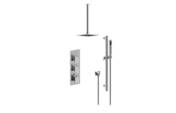 GRAFF GM3.011WB-LM31E0 SOLAR THERMOSTATIC SHOWER SYSTEM - SHOWER WITH HANDSHOWER