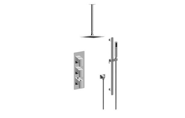 GRAFF GM3.011WB-LM36E0-T SADE/TARGA THERMOSTATIC SHOWER SYSTEM - SHOWER WITH HANDSHOWER (TRIM)