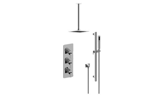 GRAFF GM3.011WB-LM40E0 IMMERSION THERMOSTATIC SHOWER SYSTEM - SHOWER WITH HANDSHOWER