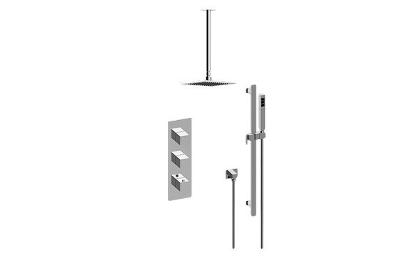 GRAFF GM3.011WB-SH0-T INCANTO THERMOSTATIC SHOWER SYSTEM - SHOWER WITH HANDSHOWER (TRIM)