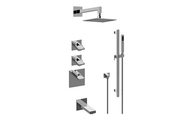 GRAFF GM3.612ST-C14E0 SADE/TARGA THERMOSTATIC SHOWER SYSTEM - TUB AND SHOWER WITH HANDSHOWER