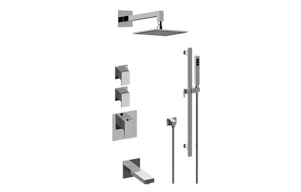 GRAFF GM3.612ST-LM31E0 SOLAR THERMOSTATIC SHOWER SYSTEM - TUB AND SHOWER WITH HANDSHOWER
