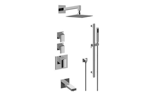 GRAFF GM3.612ST-LM36E0 SADE/TARGA THERMOSTATIC SHOWER SYSTEM - TUB AND SHOWER WITH HANDSHOWER