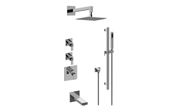 GRAFF GM3.612ST-LM40E0-T IMMERSION THERMOSTATIC SHOWER SYSTEM - TUB AND SHOWER WITH HANDSHOWER (TRIM)