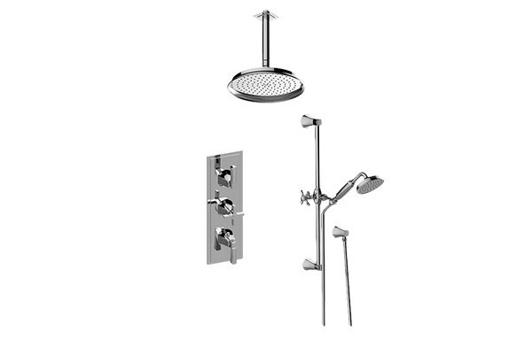 Graff Gr3 011wb 2l1c Pc T Finezza Due Thermostatic Shower System Shower With Handshower Trim Graff