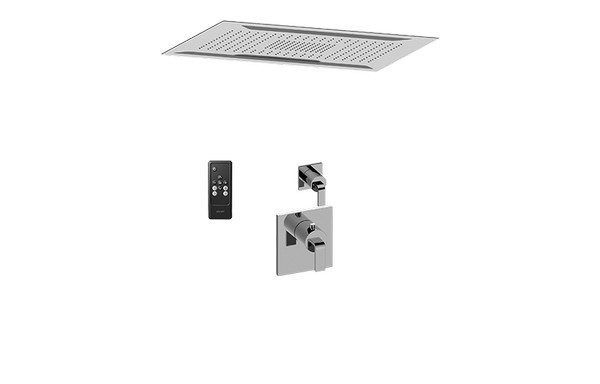 GRAFF AQ2.000SG-LM40E0-PC-T AQUA-SENSE CEILING-MOUNT SHOWER SYSTEM WITH DIVERTER VALVE IN POLISHED CHROME (TRIM)