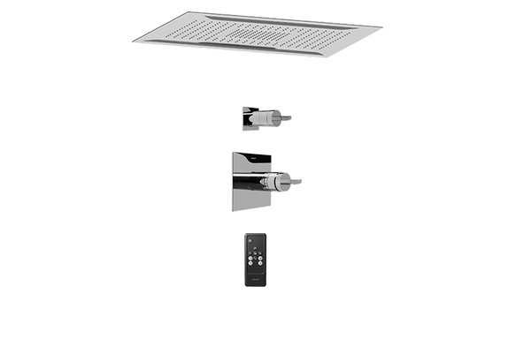 GRAFF AQ5.000A-C14S-PC AQUA-SENSE CEILING-MOUNT SHOWER SYSTEM WITH DIVERTER VALVE IN POLISHED CHROME