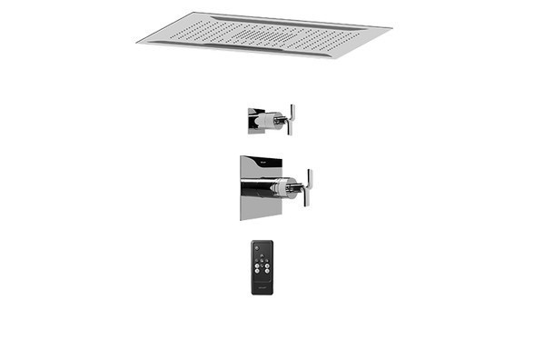 GRAFF AQ5.000A-C9S-PC-T AQUA-SENSE CEILING-MOUNT SHOWER SYSTEM WITH DIVERTER VALVE IN POLISHED CHROME (TRIM)