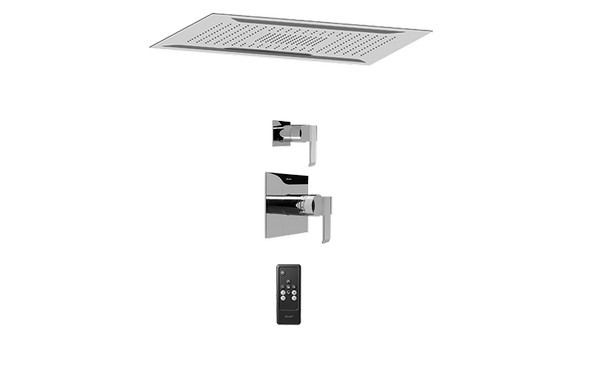 GRAFF AQ5.000A-LM38S-PC-T AQUA-SENSE CEILING-MOUNT SHOWER SYSTEM WITH DIVERTER VALVE IN POLISHED CHROME (TRIM)