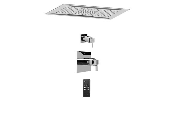 GRAFF AQ5.000A-LM39S-PC-T AQUA-SENSE CEILING-MOUNT SHOWER SYSTEM WITH DIVERTER VALVE IN POLISHED CHROME (TRIM)