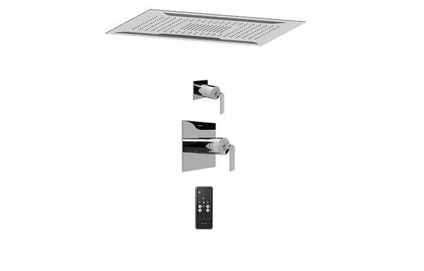 GRAFF AQ5.000A-LM40S-PC AQUA-SENSE CEILING-MOUNT SHOWER SYSTEM WITH DIVERTER VALVE IN POLISHED CHROME