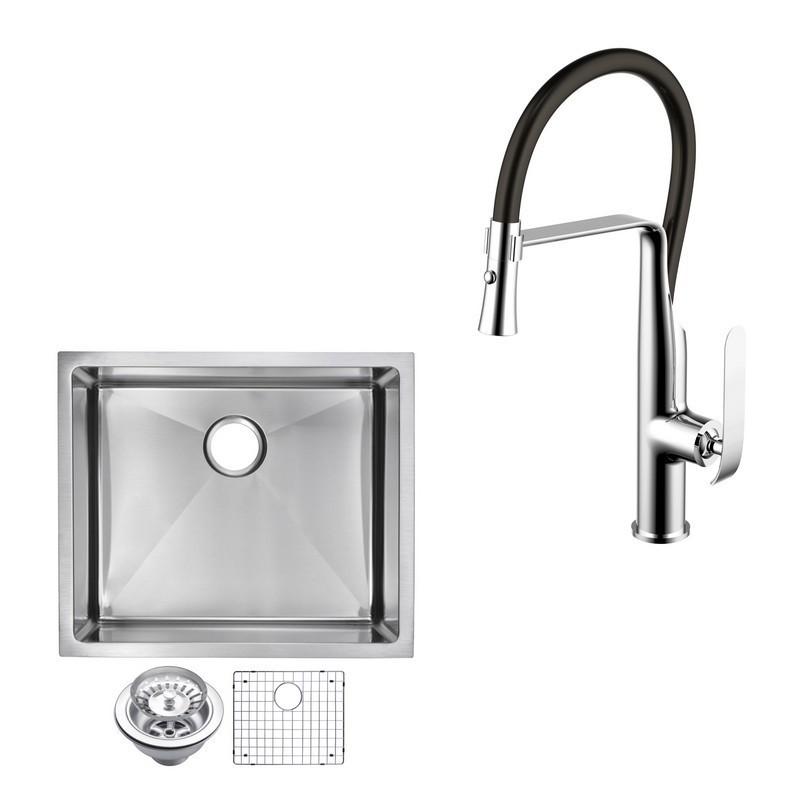 Water Creation Cf511 Us 2320b 23 X 20 Inch 15mm Corner Radius Single Bowl Stainless Steel Hand Made Undermount