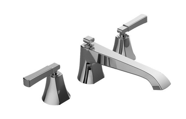 Matte Black Jaclo 9930-T679-A-240-TRIM-MBK Roaring 20s Bathtub Filler with Traditional Lever Handles and Angled Handshower