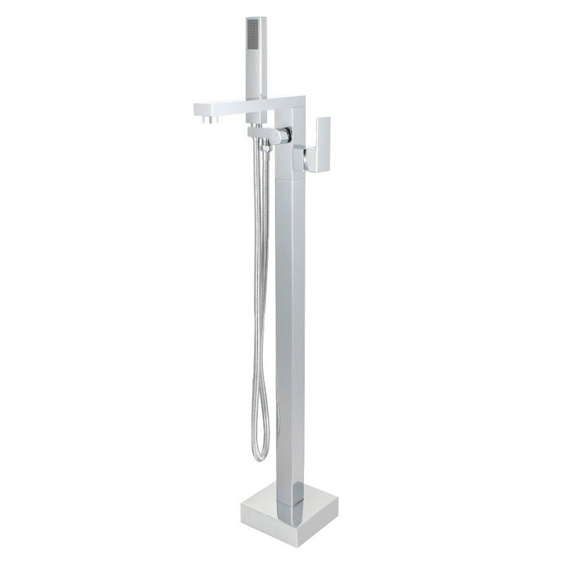 BELLATERRA 210420 SINGLE HANDLE FLOOR MOUNT FREESTANDING TUB FAUCET WITH HAND SHOWER