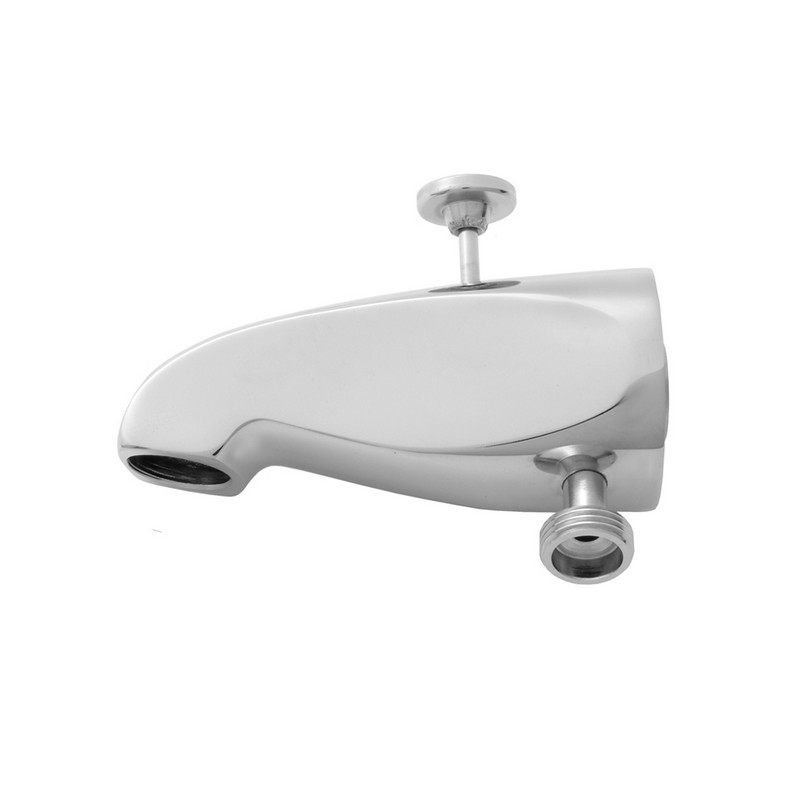 JACLO 2008 5 INCH BRASS DIVERTER TUB SPOUT WITH HANDSHOWER OUTLET
