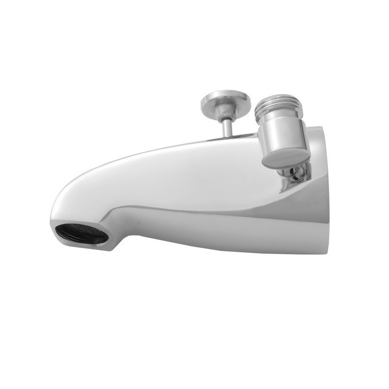 JACLO 2009 5 INCH BRASS DIVERTER TUB SPOUT WITH SIDE HANDSHOWER OUTLET