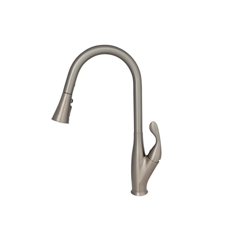 STYLISH K-109B PALERMO SINGLE HANDLE PULL DOWN KITCHEN FAUCET IN BRUSHED NICKEL