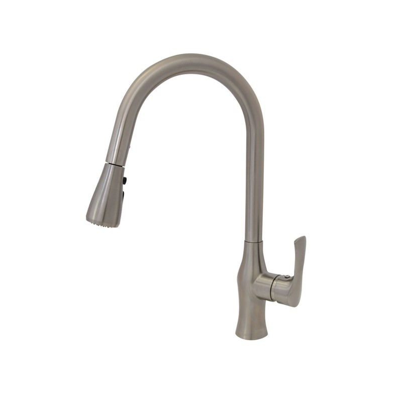 STYLISH K-138B LUCCA SINGLE HANDLE PULL DOWN KITCHEN FAUCET IN BRUSHED NICKEL