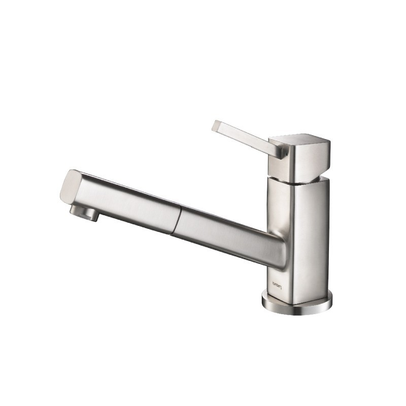 ISENBERG K.1000SS SMALLIE - STAINLESS STEEL KITCHEN FAUCET WITH PULL OUT IN STAINLESS STEEL
