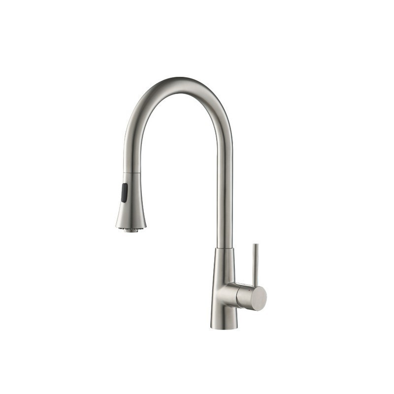 ISENBERG K.1290 DUAL SPRAY STAINLESS STEEL KITCHEN FAUCET WITH PULL OUT