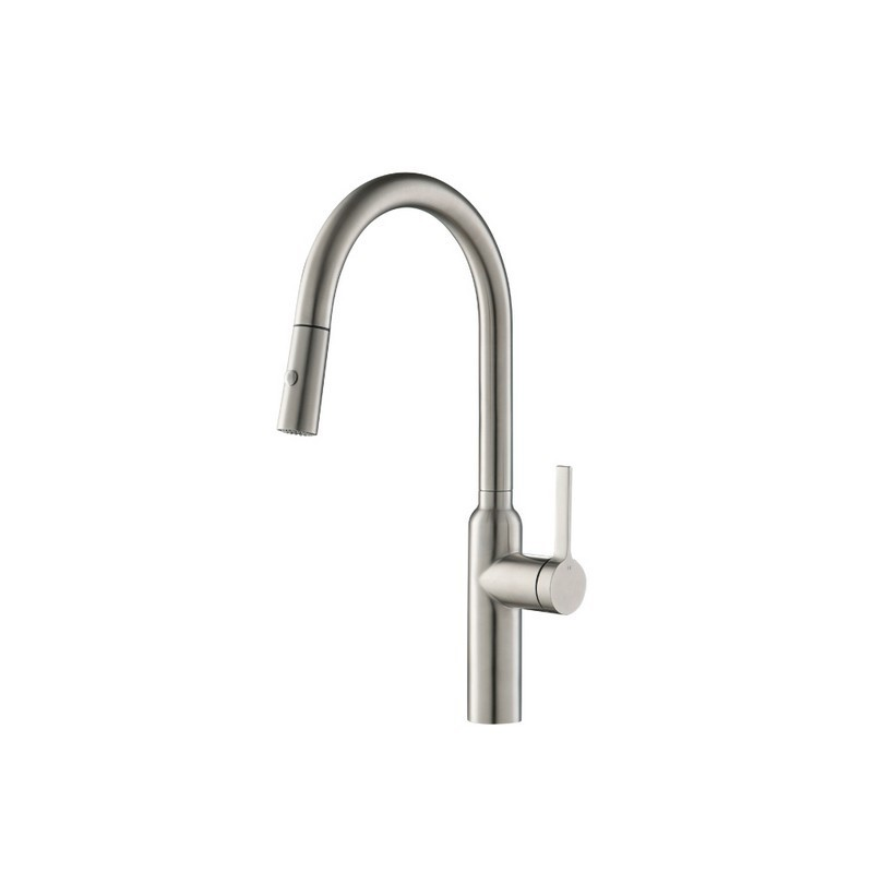 ISENBERG K.1360 DUAL SPRAY STAINLESS STEEL KITCHEN FAUCET WITH PULL OUT