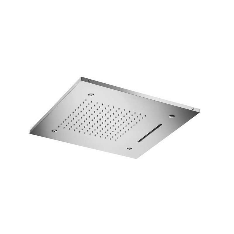 ISENBERG MSS.20S CASCADE 20 INCH STAINLESS STEEL FLUSH MOUNT RAINHEAD WITH CASCADE WATEFALL AND MIST FLOW