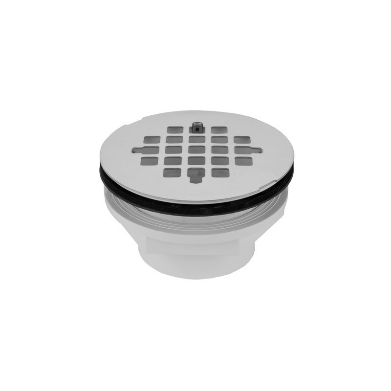 JACLO 86560 2 INCH PVC COMPLETE SHOWER DRAIN WITH SNAP IN DRAIN PLATE (GLUE)