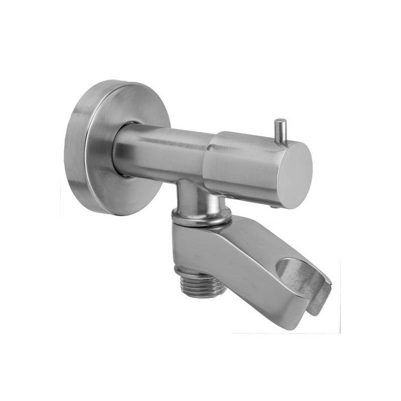 JACLO 6466 WATER SUPPLY ELBOW WITH BUILT IN SHUT OFF AND HANDSHOWER HOLDER